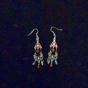 Jewelry - Tibet Earrings/Beaded Dangle Earrings